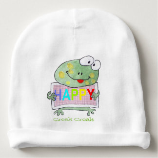 cute hand painted frog baby beanie