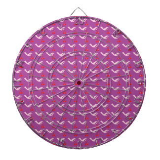 Cute hand picking cherries pattern dart board
