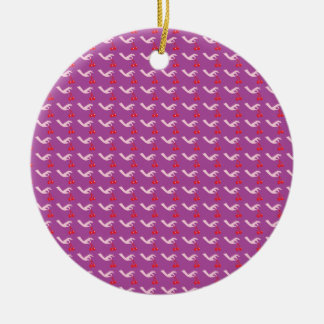 Cute hand picking cherries pattern ornaments