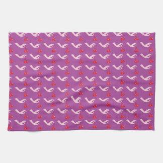 Cute hand picking cherries pattern towel