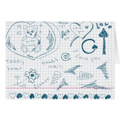 Cute Hand Sketches Design! Card