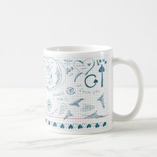 Cute Hand Sketches Design Coffee Mug Zazzle
