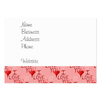 Cute Handdrawn I Love You Heart Valentine s Day Business Cards