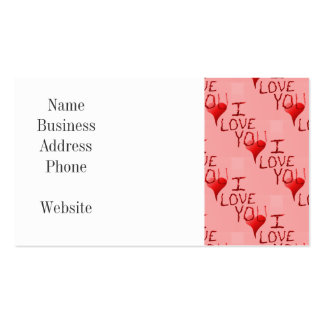Cute Handdrawn I Love You Heart Valentine s Day Business Card