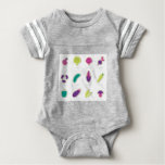Cute handdrawn Vegetable art edition Baby Bodysuit