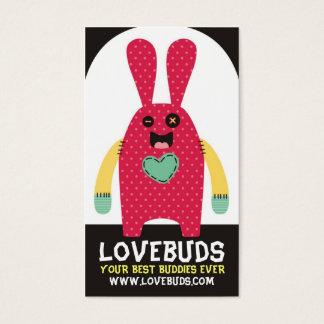 Cute handmade stuffed bunny toy sewing biz cards