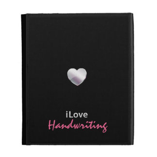 Cute Handwriting iPad Folio Cover