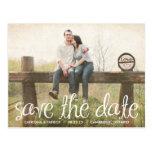 Cute Handwritten Script Save the Date Postcard