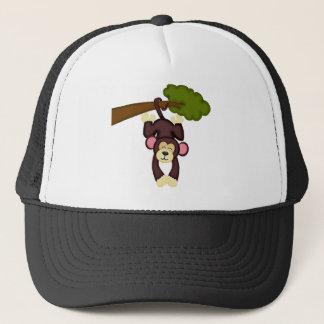 Cute Hanging Monkey Trucker Hat