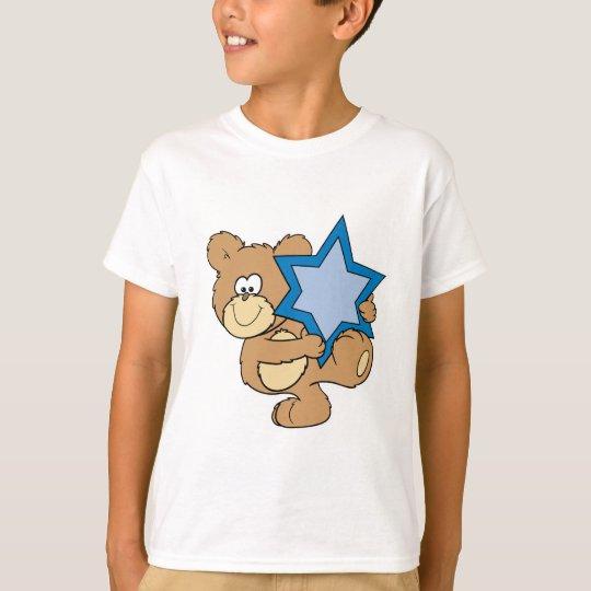cute hanukkah teddy bear holding star of david T-Shirt