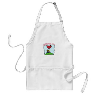 """Cute, """"Happily Ever After"""" wedding design Adult Apron"""