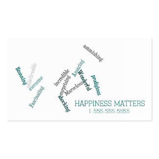 Cute Happiness Matters Love and Support Business Card
