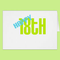 "Cute, ""Happy 18th Birthday"" Card"