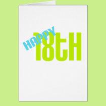 """Cute, """"Happy 18th Birthday"""" Card"""