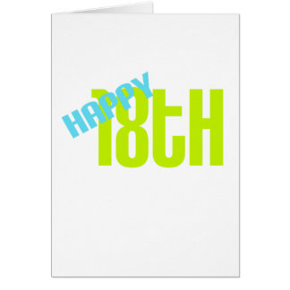 """Cute, """"Happy 18th Birthday"""" Greeting Card"""