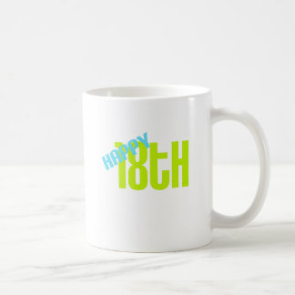 "Cute, ""Happy 18th Birthday"" Coffee Mugs"