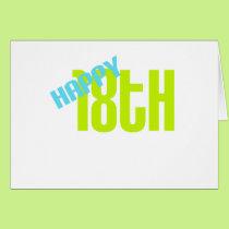 "Cute, ""Happy 18th"" design Card"
