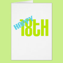 "Cute, ""Happy 18th"" design Card"