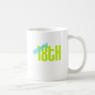 """Cute, """"Happy 18th"""" design Mug"""