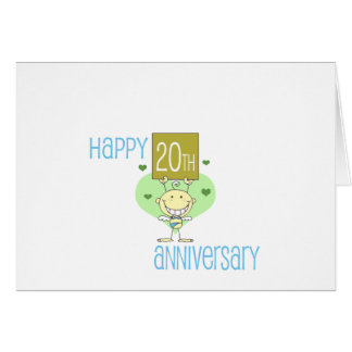 """Cute, """"Happy 20th Anniversary"""" design"""