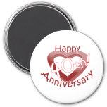 "Cute, ""Happy 40th Anniversary"" Heart design Magnet"