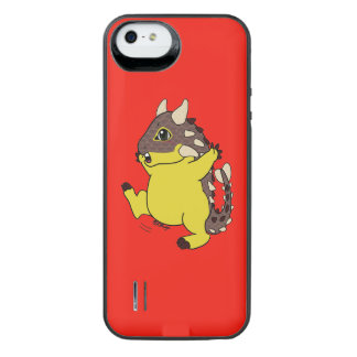 Cute happy Ankylosaurus iPhone SE/5/5s Battery Case