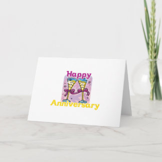 "Cute, ""Happy Anniversary"" design Card"