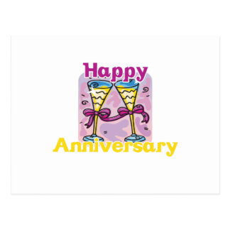 "Cute, ""Happy Anniversary"" design Postcard"