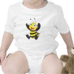 Cute Happy Baby Bee Arms Hands Up Waving Baby Bodysuit