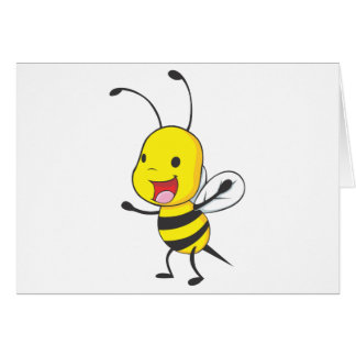 Cute Happy Baby Bee Arms Open Wide Card