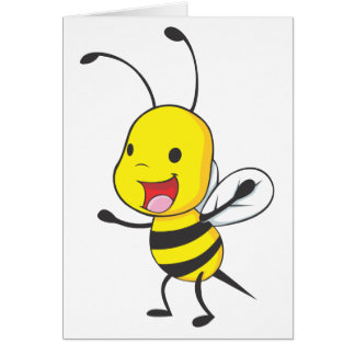 Cute Happy Baby Bee Arms Open Wide Greeting Cards