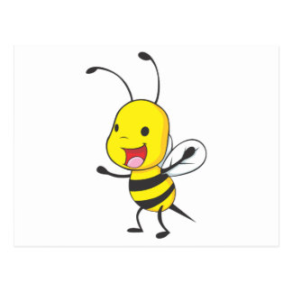 Cute Happy Baby Bee Arms Open Wide Postcard