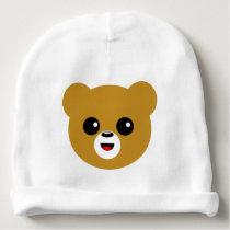 Cute Happy Bear Face Baby Beanie