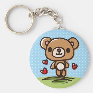 Cute happy bear key chain