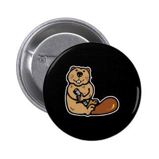 cute happy beaver pins