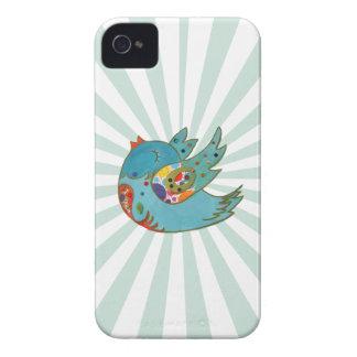 Cute happy bird iPhone 4 cases