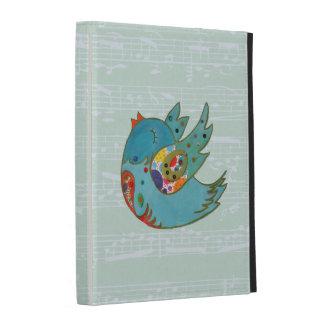 Cute happy bird iPad folio covers