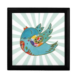 Cute happy bird gift box