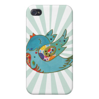 Cute happy bird iPhone 4 covers
