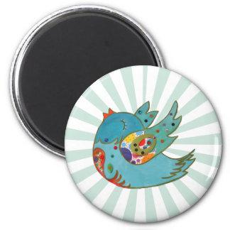 Cute happy bird 2 inch round magnet