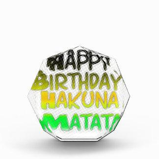 Cute Happy Birthday Hakuna Matata eco Inspirationa Award
