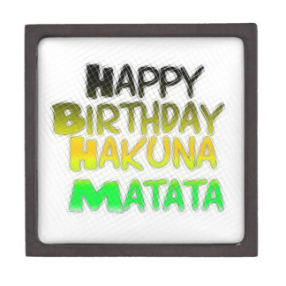 Cute Happy Birthday Hakuna Matata eco Inspirationa Keepsake Box