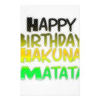 Cute Happy Birthday Hakuna Matata eco Inspirationa Stationery