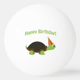 Cute Happy Birthday! Turtle Ping-Pong Ball