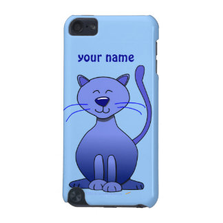 Cute Happy Blue Smiling Cat Picture Funny Template iPod Touch 5G Covers