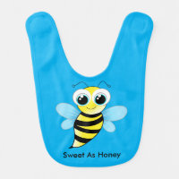 Cute Happy Bumble Bee Bib Says Sweet As Honey