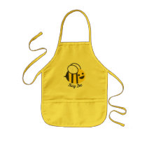 Cute Happy Busy Bumble Bee Kids' Apron