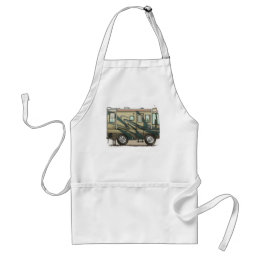 Cute Happy Camper Big RV Coach Motorhome Adult Apron