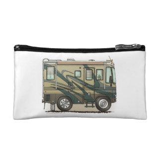 Cute Happy Camper Big RV Coach Motorhome Cosmetic Bag