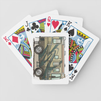 Cute Happy Camper Big RV Coach Motorhome Bicycle Playing Cards